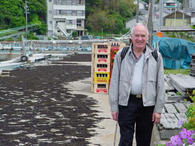 Travelling with my parents with my Dad in Mie Prefecture fishing village