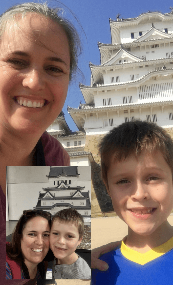 Himeji Castle with my son - from Lego model to the real thing in Japan