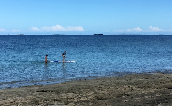 Stand Up Paddleboarding at Savala Island in Fiji