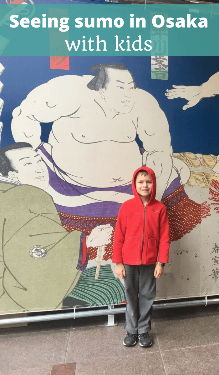 Seeing sumo in Osaka, Japan with kids
