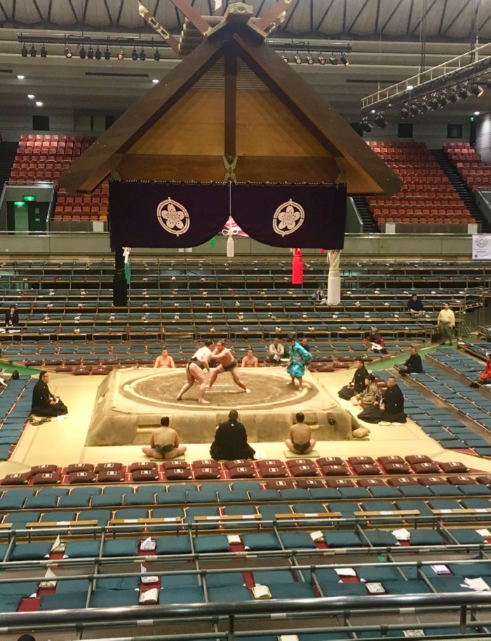 Sumo in Edion Arena in Osaka, early in the day