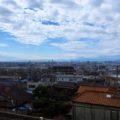 View over Osaka from train near Ikoma