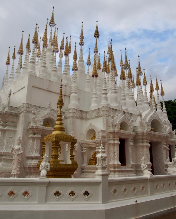 108 spires of Wat Pong Sunan temple in Phrae, Thailand