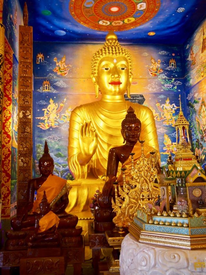 Buddha in Wat Pong Sunan in Phrae, Thailand