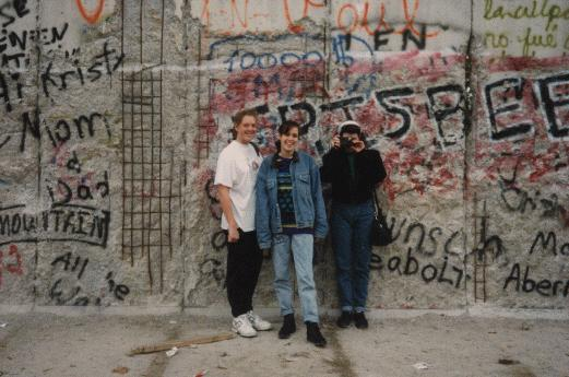 Me as a teenager at the Berlin Wall