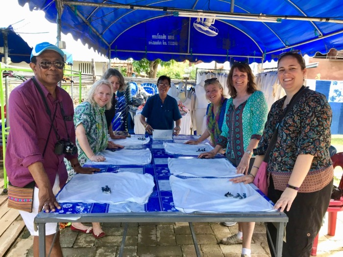 Prepared to dye scarves with indigo at Ban Thung Hong