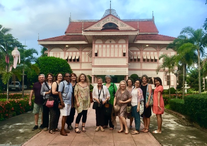 Secret Thailand - our group visiting Vongburi House in Phrae