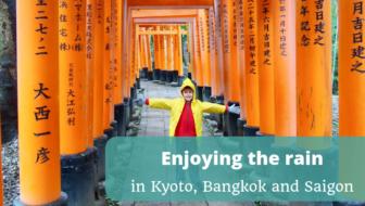 Enjoying the rain in Kyoto Bangkok and Ho Chi Minh City