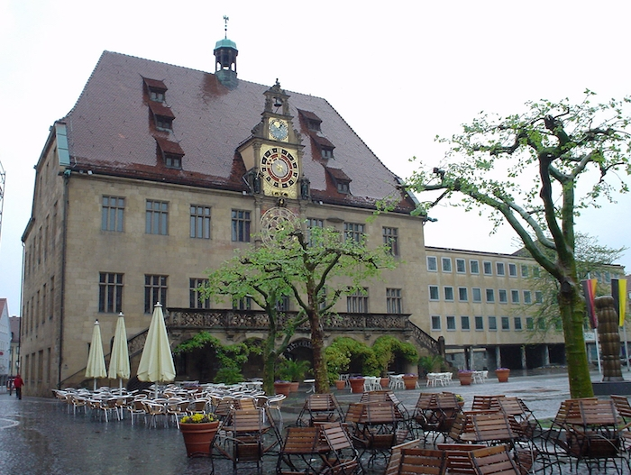 The Rathaus or town hall in Heilbronn, Germany