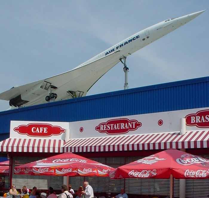 The Concorde on display at the museum in Sinsheim, south-west Germany