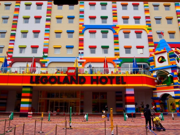 The brand new Legoland Hotel Nagoya just before its 2018 opening