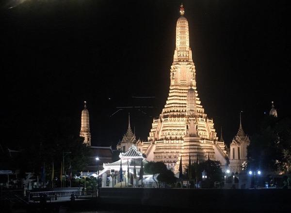 Temples riverside in Bangkok, Thailand