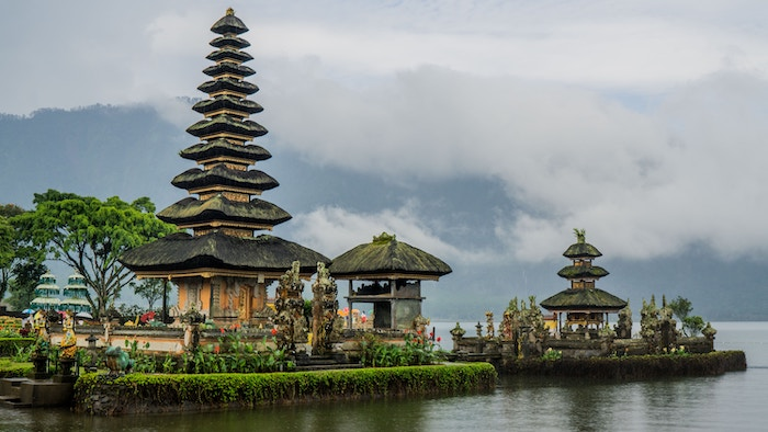 Head north and there are places like Ulun Danu Beratan Temple