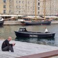 Hey Captain Boat in the harbour in Copenhagen Denmark