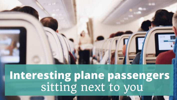 Interesting plane passengers sitting next to you - The Thoughtful Travel Podcast Episode 178